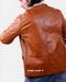Goat pullup leather blazer