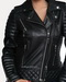 Oil black quilted leather jacket worn by popular celebrities