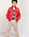 Lambskin kids leather moto jacket