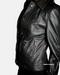 Black womens leather jacket