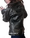 Leather Blazer with Fleece Hood