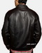 Real leather moto jacket