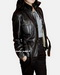 Womens leather jacket with belt
