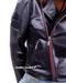 Zip Detail Leather Moto Jacket