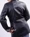 Womens Long Leather Blazer