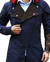 Real Assassin-Creed Assassin's Creed Unity Arno Blue Trench Coat