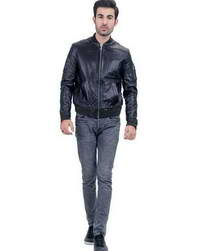 Real Black-Bomber Black Bomber Mens Jacket