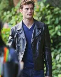 Christian-Grey Christian Grey Fifty Shades Of Grey Leather Jacket