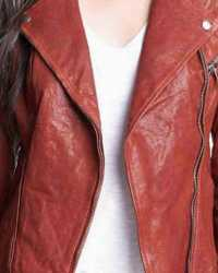 Real Fifty-Shades Fifty Shades of Grey Anastasia Steele Brown Leather Jacket