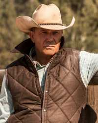 Real John-Vest Yellowstone John Dutton Brown Quilted Vest