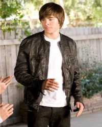 Real Zac-Efron 17 Again Zac Efron Leather Jacket