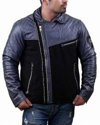 Biker Multicolor Mens Biker Leather Jacket