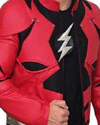 Real The-Flash The Flash Justice League Leather Jacket