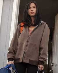 Monica-Brown Yellowstone Kelsey Asbille Brown Hooded Jacket
