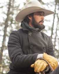Real Rey-Bingham Ryan Bingham Yellowstone Wool Pea Coat