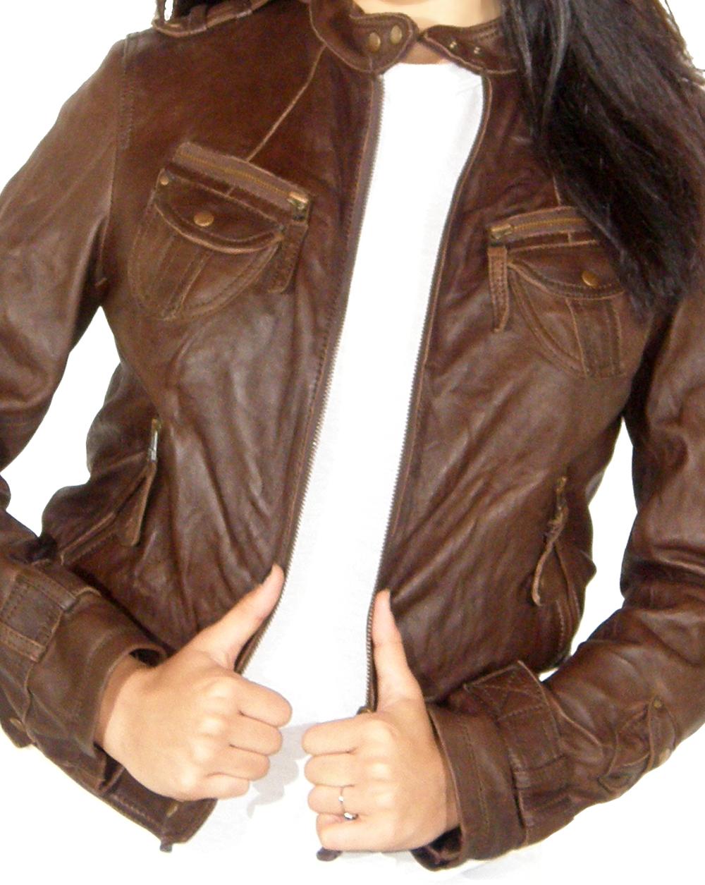 ... Leather Womens Moto Jacket ...